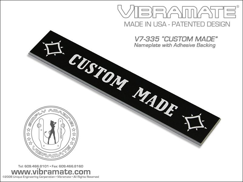 Vibramate Custom Made Cover Plate V7-335